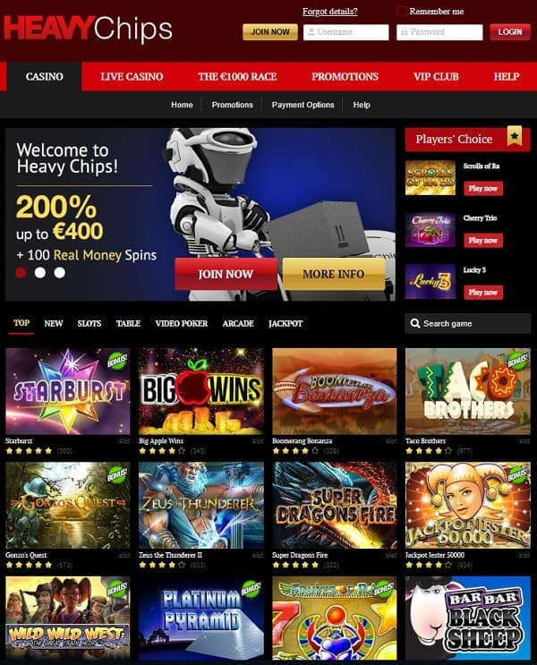 Heavy Chips Casino Review