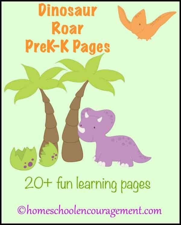 Dinosaur Roar PreK-K Pages | encouragingmomsathome.com