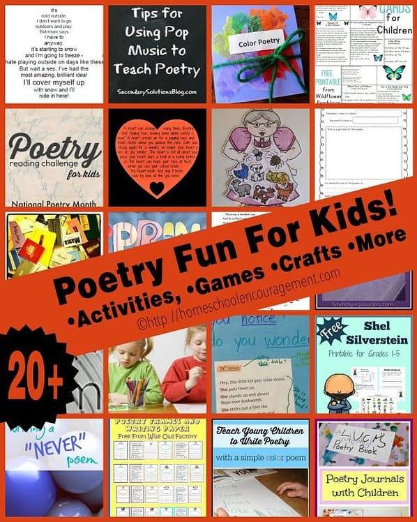 Poetry Fun For Kids Poetry Games, Poetry Crafts, Poetry Activiities Poetry Worksheets