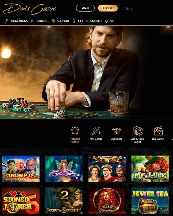 Don's Casino free play bonus for new players