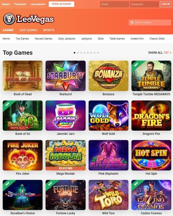 Leo Vegas Casino & Sportsbook Review