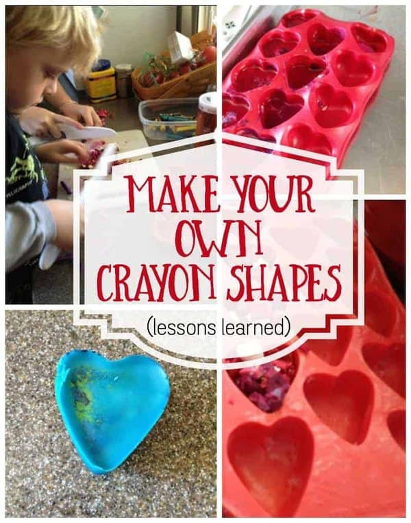 Looking to make shaped crayons as an art project or gift?  Take a look at these 10 lessons to remember when making your own crayons for holidays or themed days.