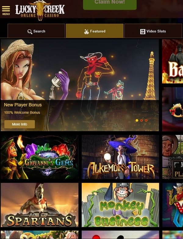 Lucky Creek Casino free play slots and jackpot games