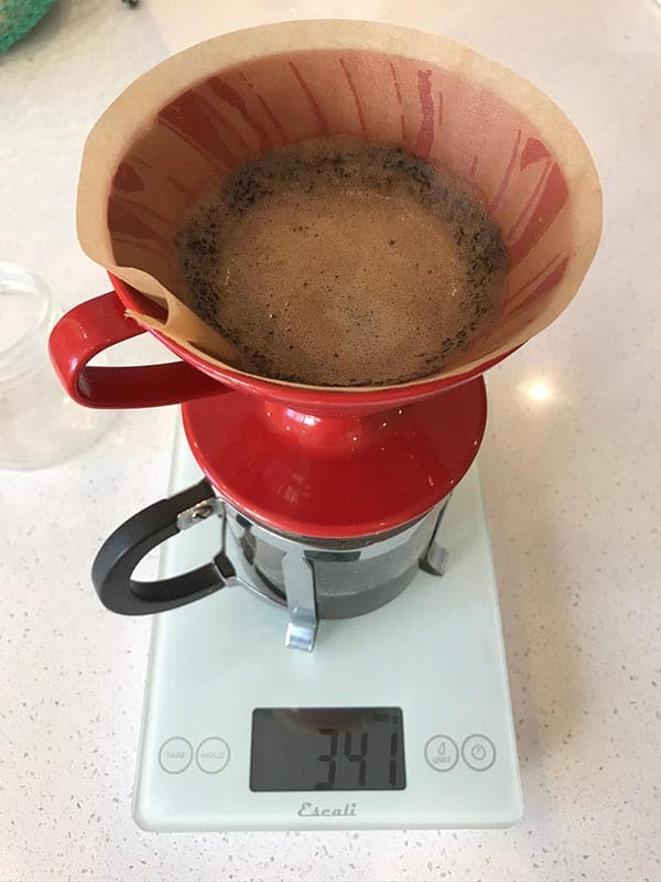 It's just coffee brewing, but it's fun to watch.