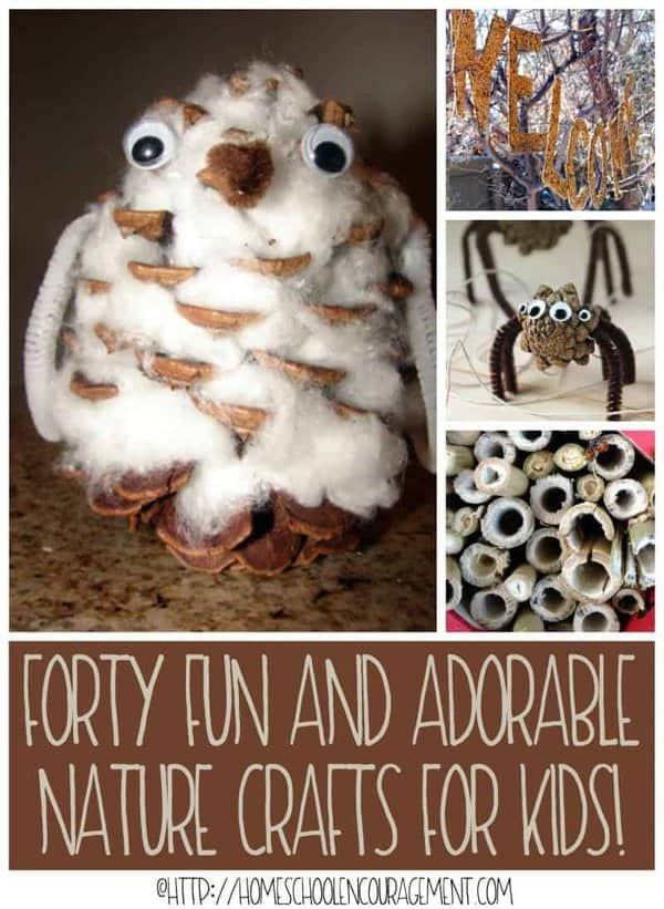 Forty Fun and Adorable Nature Crafts for Kids - 40 Fun Ideas - Nature Crafts for Kids - Beautiful Art