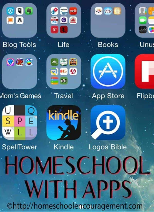Do you feel like your kids are constantly on their electronic devices?  Why not use that to your advantage with homeschool with apps so that they are learning and having fun.  Take a look at our quick list of hows, whys, guidelines, and ideas for homeschooling with apps.