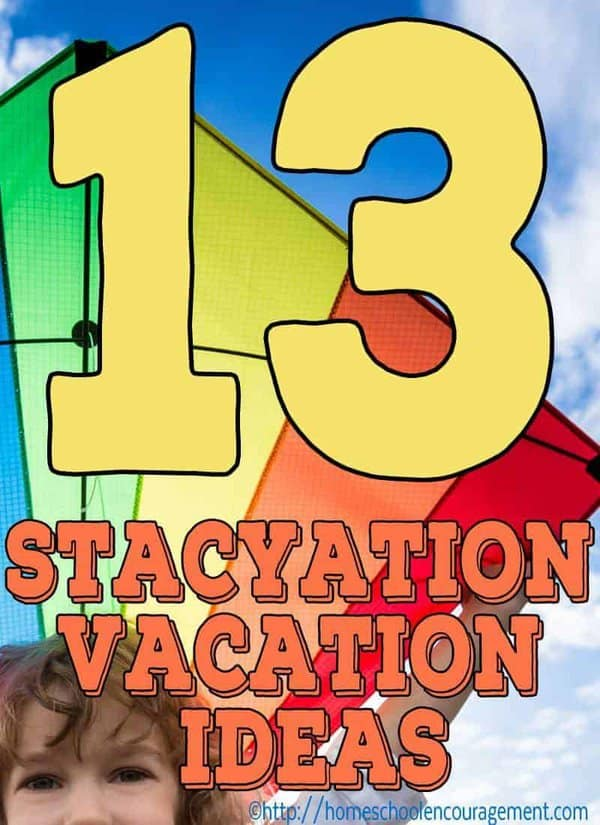 The high price of gas and food do not have to keep you from having a family vacation this summer.  We have 13 fun ideas for your at home Staycation!