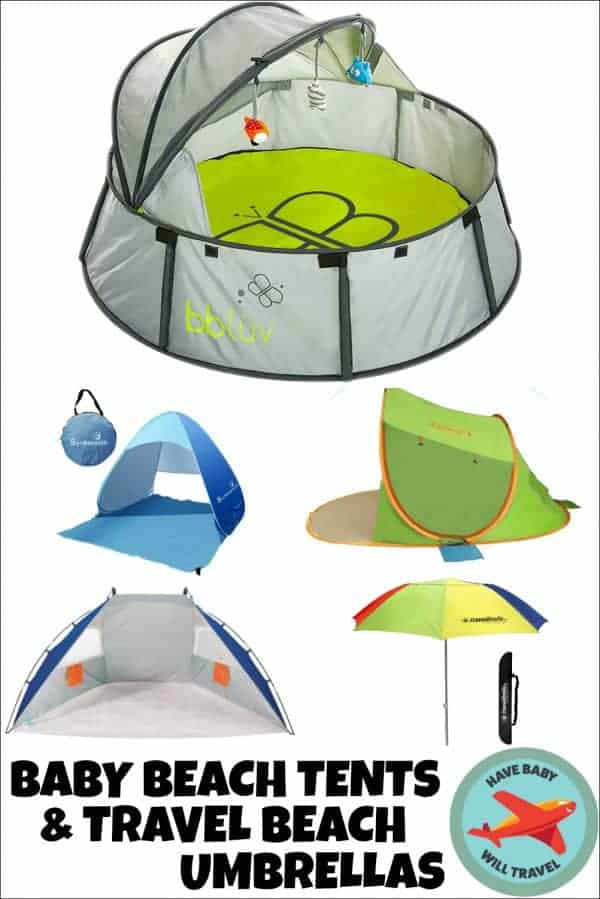 baby beach tent, portable sun shelter, infant beach tent, baby beach gear, best baby beach gear, travel beach umbrellas
