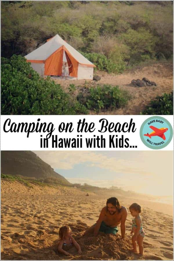 camping-on-the-beach-in-hawaii-with-kids
