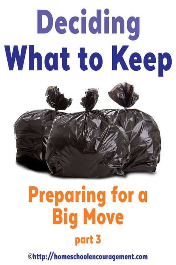 There's no better time to declutter than right before a move.  And deciding what to keep can be difficult.  Take a look at part 3 of our Preparing for A Big Move Series.