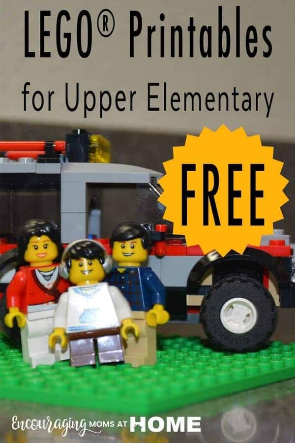 Do your big kids love LEGOS?  Take a look at 17 amazing free LEGO printables for upper elementary & middle school ages!  They will be challenged in math, chemistry, art, and more!