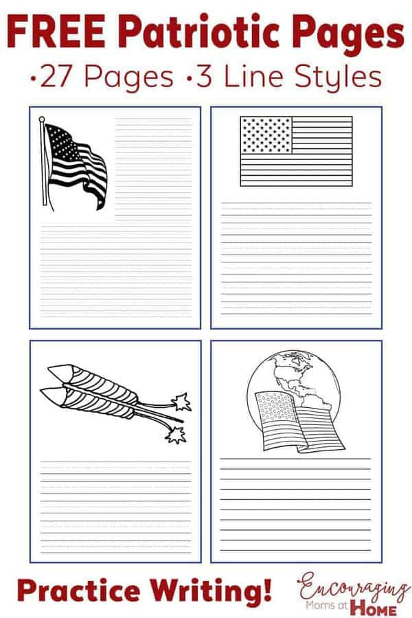 July 4th is a great time to reflect on our great nation. Here are 27 FREE printable pages with patriotic themes to have your kids record their independence day memories.