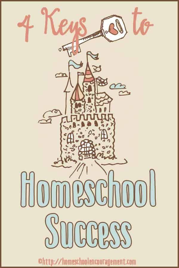 Afraid of making mistakes as you homeschool your kids? Take a look at 4 keys to success from a veteran homeschool mom.
