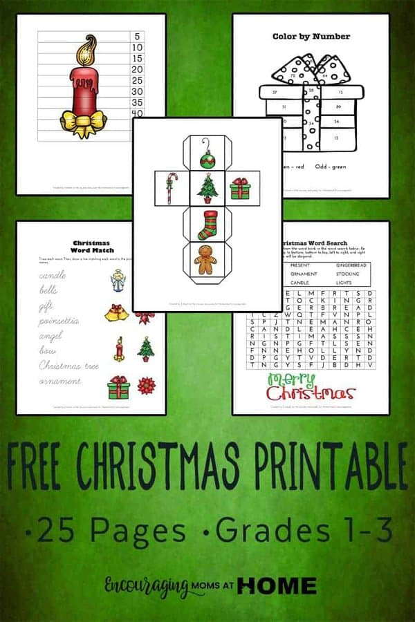 Christmas is coming and sometimes it is hard to stay focused on your homeschool lessons.  Did you know that themed learning pages are a great solution for those days when your kids just can't focus? This FREE printable pack introduces and reinforces skills with a little Christmas twist.  Suitable for kids 1st through 3rd grades.