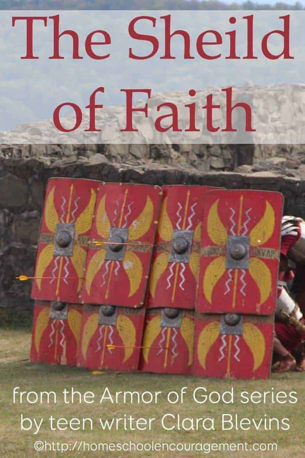 What does faith protect us from?  Like the full-body shield that protected the Roman soldier from harm, our faith protects us from harm.  It is like a shield around us!  And it is part of the full Armor of God!