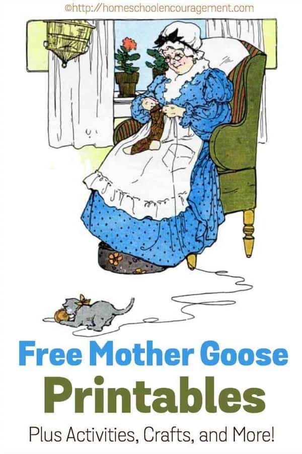 Would you like to add a lesson about Mother Goose to your homeschool day?  Here is a great list of FREE Mother Goose Printables that can help you out.