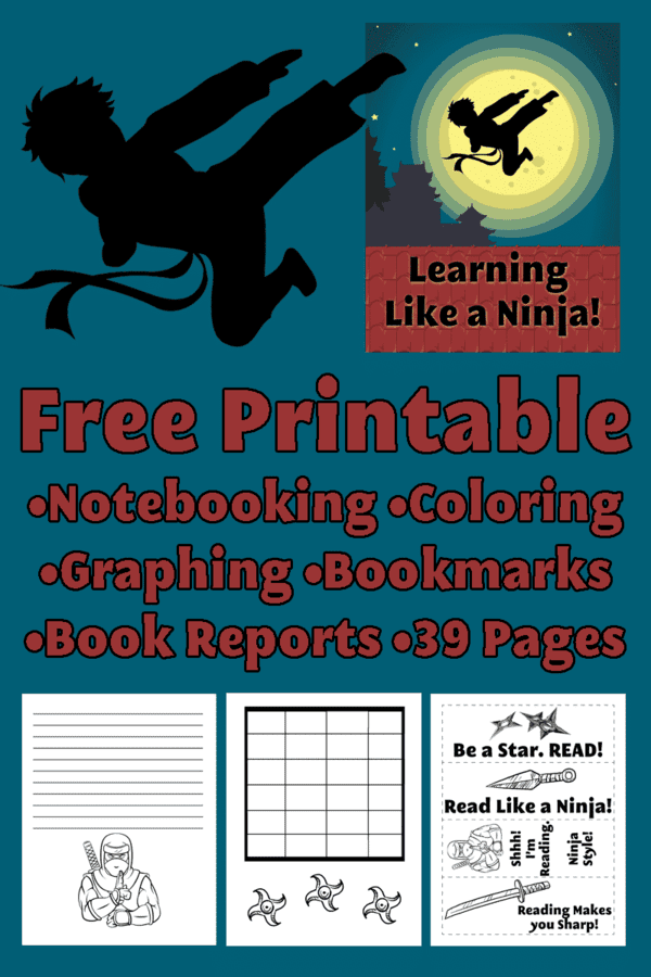 Delight directed learning is all about latching on to your child's current passion and centering their lessons around that topic.  Click over for a FREE printable set geared toward learning like a ninja.