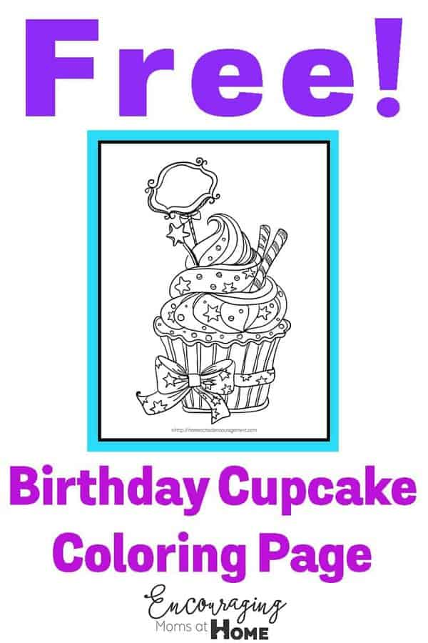 If you have a birthday kiddo in the house, they are going to love this beautiful cupcake coloring page.