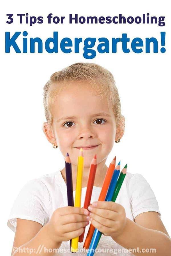 Veteran Homeschool Mom shares Three tips for homeschooling kindergarten, homeschool