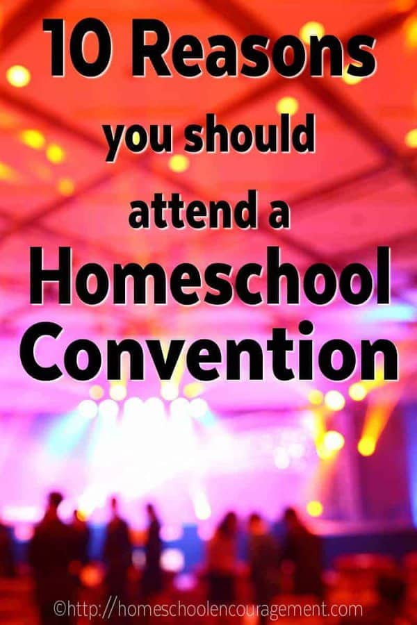 Why do Homeschool Conventions Rock? It's where you can gain encouragement and refreshment.  It's where you can get a jump start on next year's school planning and connect with other homeschool moms. Click over and take a look at the complete list of 10 reasons to attend a homeschool convention.