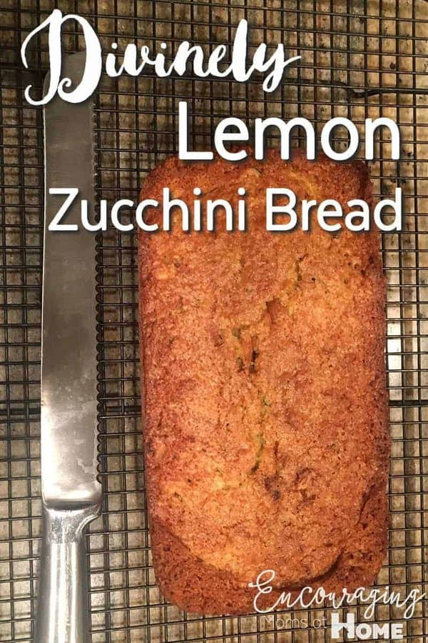 Do you enjoy the flavor of lemon zucchini bread?  This Lemon Zucchini Bread Recipe is quick and easy to make.  And healthy too.  FREE printable recipe included.
