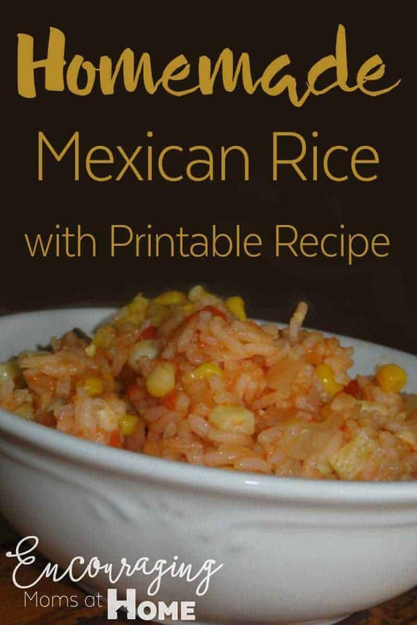 Love Mexican Rice? Try out our homemade family recipe that's gluten and dairy free. AND there's a free printable too!