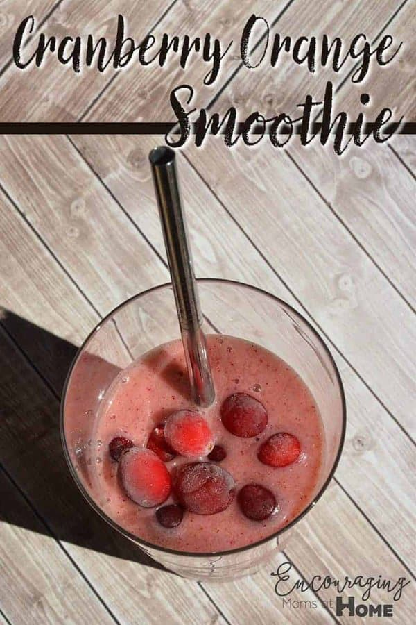 There is just something about cranberries and oranges together. This smoothie recipe is a delicious combination using them both. It's great for breakfast on the go or as a mid-day treat.