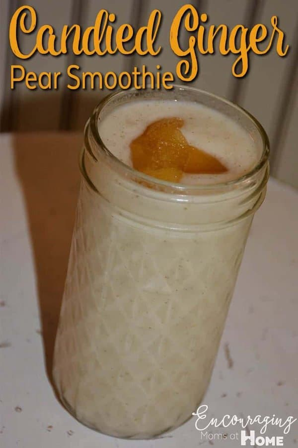 Looking for a delicious pear smoothie recipe? Try our Pear Ginger Smoothie with the key ingredient of almond milk.