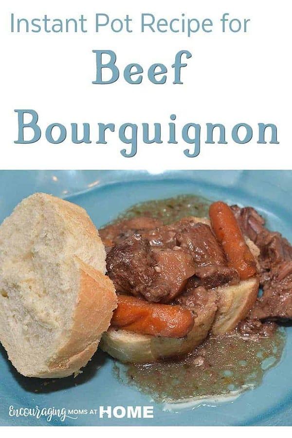 Instant Pot Recipe for Beef Bourguignon