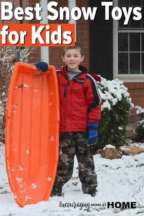 Whether you have a little snow or a lot, there a few toys that make playing in the outside great fun for your kids. Click over to see our list of great toys for fun in the snow.