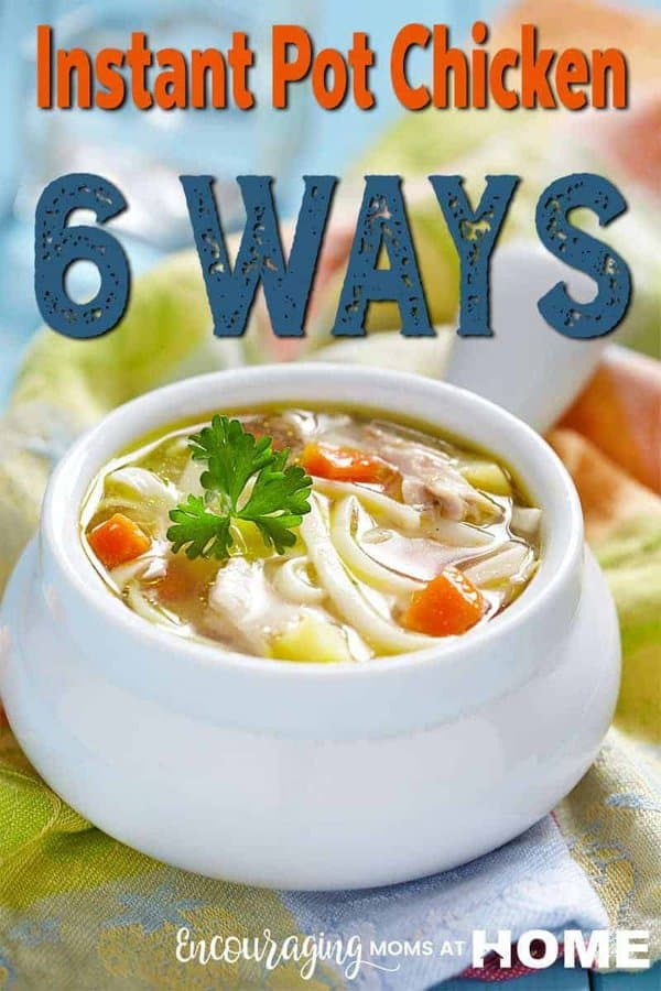 Is your family ready for a little variety in the way you fix chicken cooked in the Instant Pot? Try these six ways to use the chicken that will have everyone asking for more.