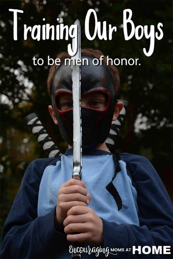 What does it mean to raise your boy to be a man of honor? It is not just teaching them to be polite and to follow rules. Click over to read my review of Knights in Training: Ten Principles for Raising Honorable, Courageous and Compassionate Boys.