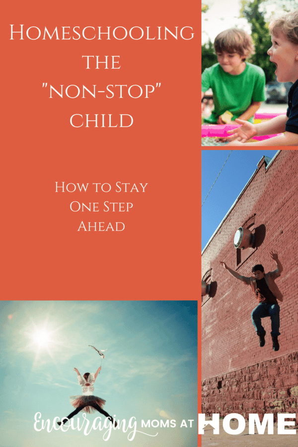 Homeschooling can be exhausting. Our kids can be more energetic and intense than we are. Or more than the other kids are. Take a look at these tips to help you stay ahead of even those energetic kids.