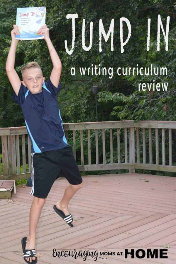 Jump In: A Workbook for Reluctant and Eager Writers could be a living book.  Sharon Watson teaches each concept in an manner that will engage student across the writing spectrum.