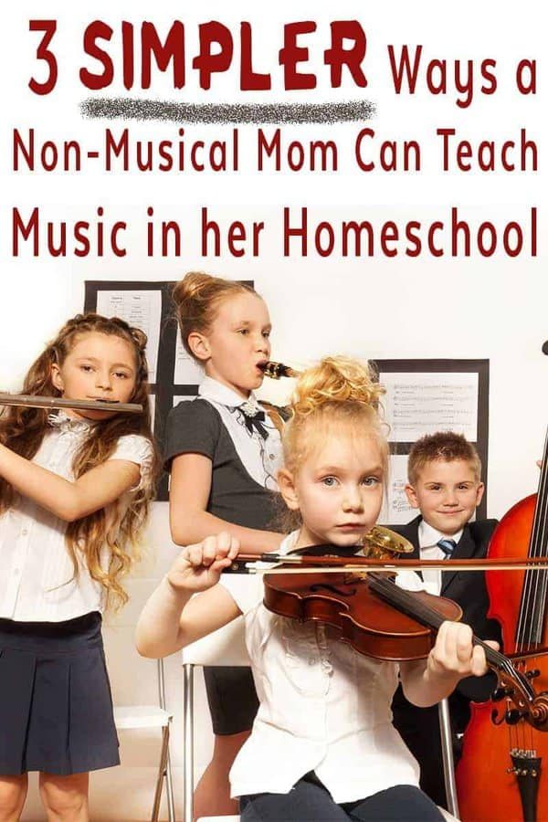 Are you a non-musical homeschool mom? Take a look at 3 ways to teach music using tools that will help with musical instruction and appreciation.