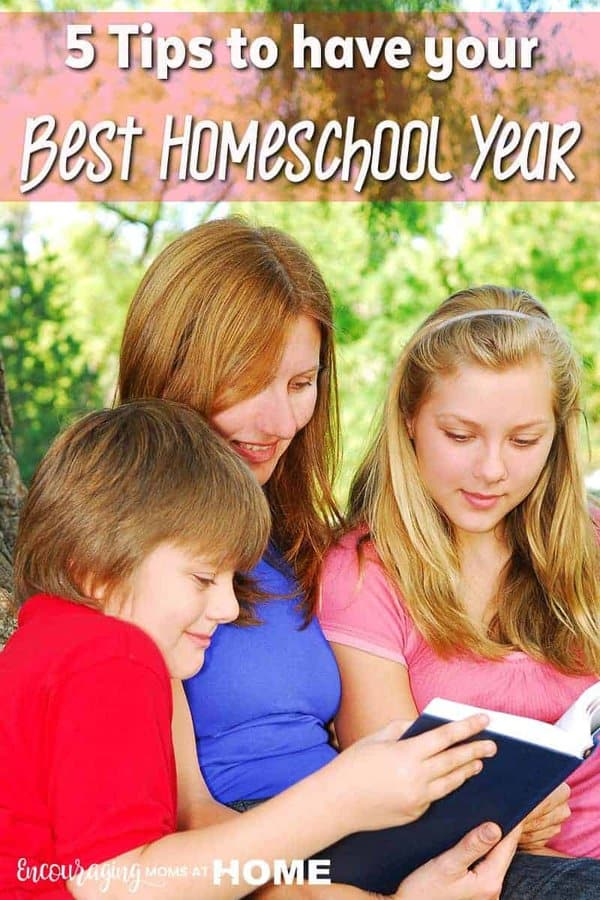 Do you want this to be your best homeschool year?   Here are 5 tips to help you determine what it will take to achieve a great year.