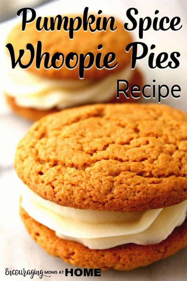 Do you know what a Whoopie Pie is? It is delicious goodness with extra thick frosting spread between two cookies. Do you love Pumpkin Spice? Then you have to try this Pumpkin Spice Whoopie Pie Recipe. AND It's a perfect fall treat.