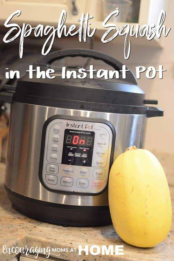 Instant Pot Spaghetti Squash - how to cook spaghetti squash in a pressure cooker.