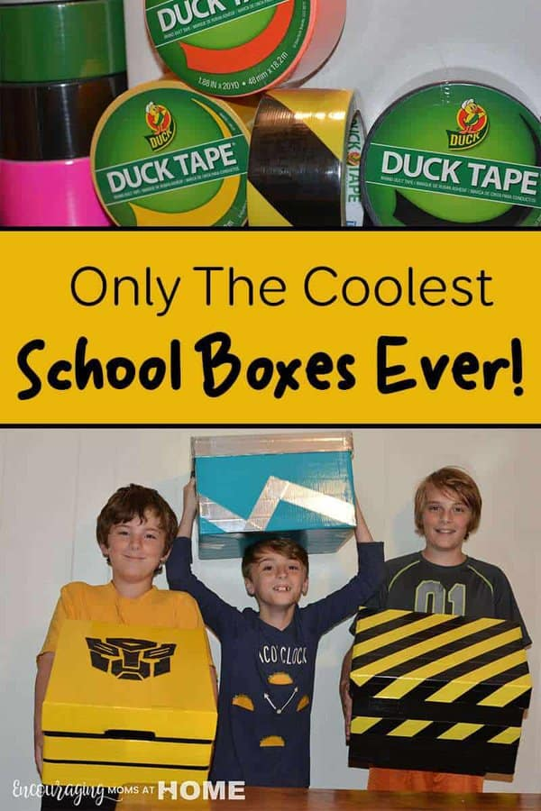 You need someplace for them to store all that stuff, and they need some serious motivation. The answer is only the coolest school boxes ever! Perfect spot for school stuff that threatens to overflow.
