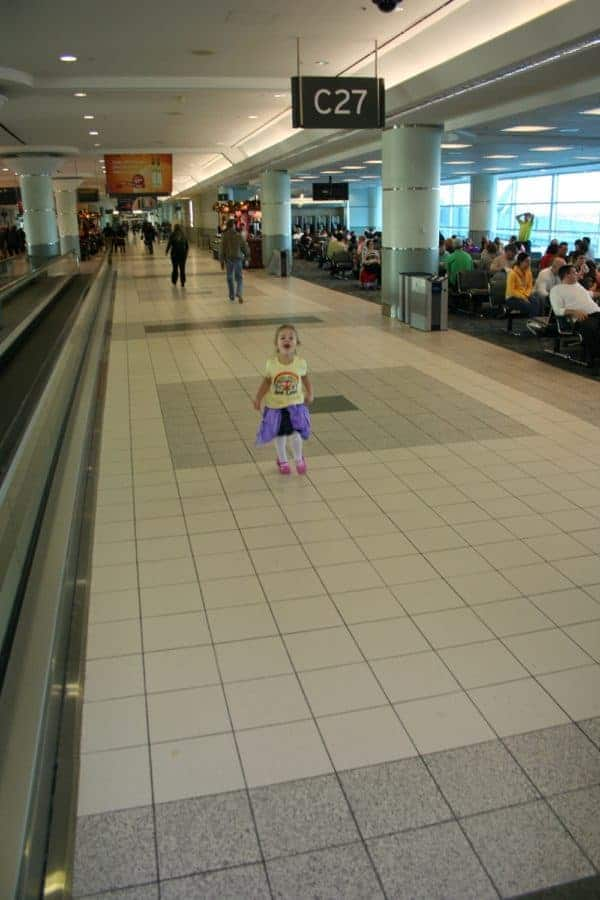 Toddler in the airport