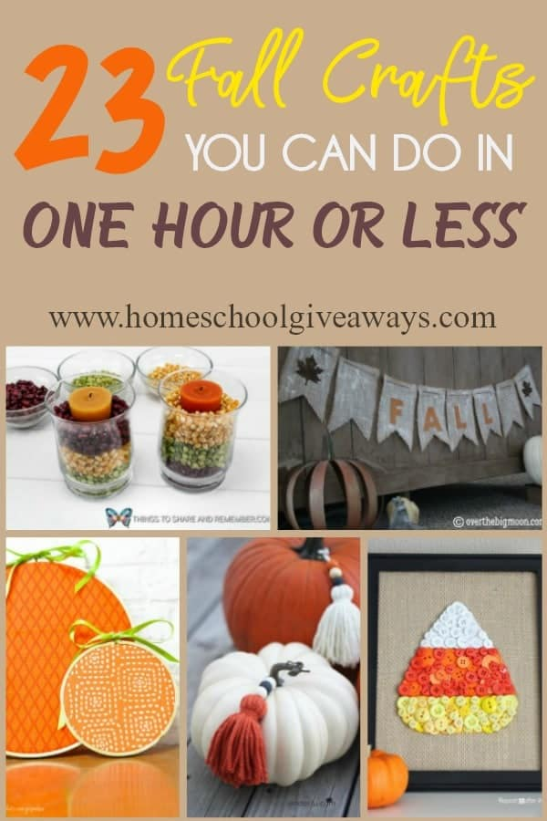 Whether you're crafty or not, these quick and easy Fall themed crafts are perfect for beginners and children too! In an hour or less, you will be able to spruce up any living space and have it ready for Fall! #fall #crafts #fallcrafts #diy #autumn #crafting