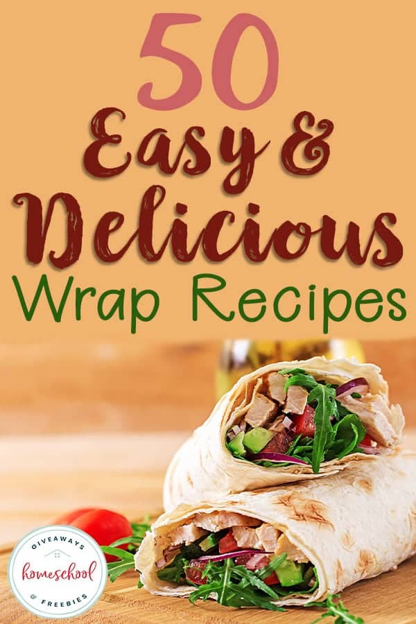 Whether you're looking for a quick and easy lunch or a meal that doesn't heat up the house, these wrap recipes are sure to satisfy your hunger. You'll find low carb, KETO, allergy-friendly recipes in a variety of meats and more! #recipes #wraps #wraprecipes #hsgiveaways
