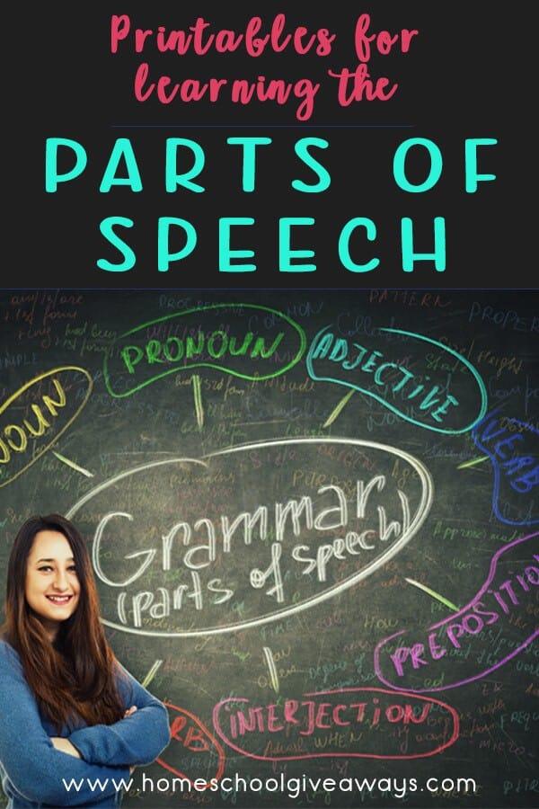 Parts of Speech Printables