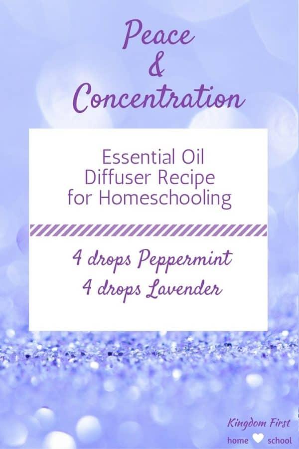 essential oils for homeschooling