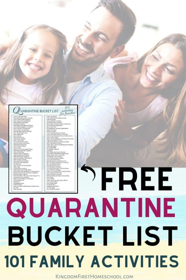 Free Printable Quarantine Bucket List - 101 Family Activities to Do