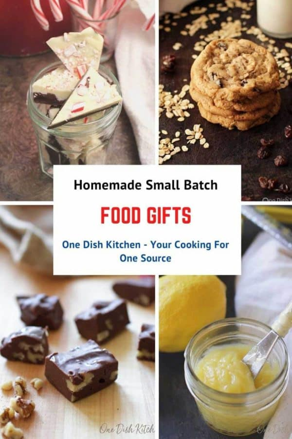 four pictures in a college of small batch gifts to give at Christmas.