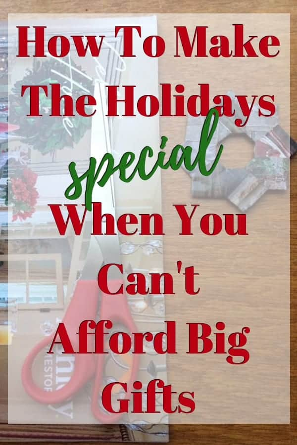 Help! I can't afford Christmas presents this year!