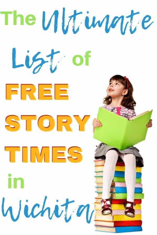 Check out this ultimate list of free story times in the Wichita, KS area. Rainy days, homeschool activities, or just plain reading fun. #storytimes #wichita #WOTC