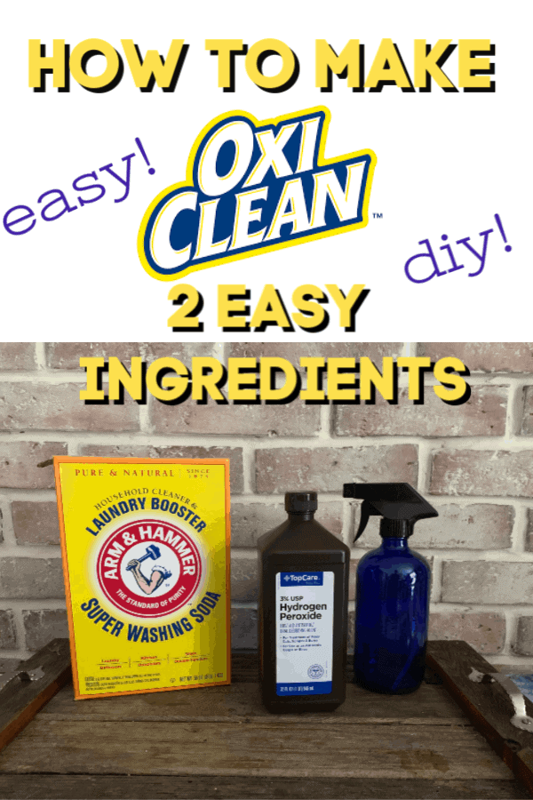 homemade OxiClean recipe graphic.