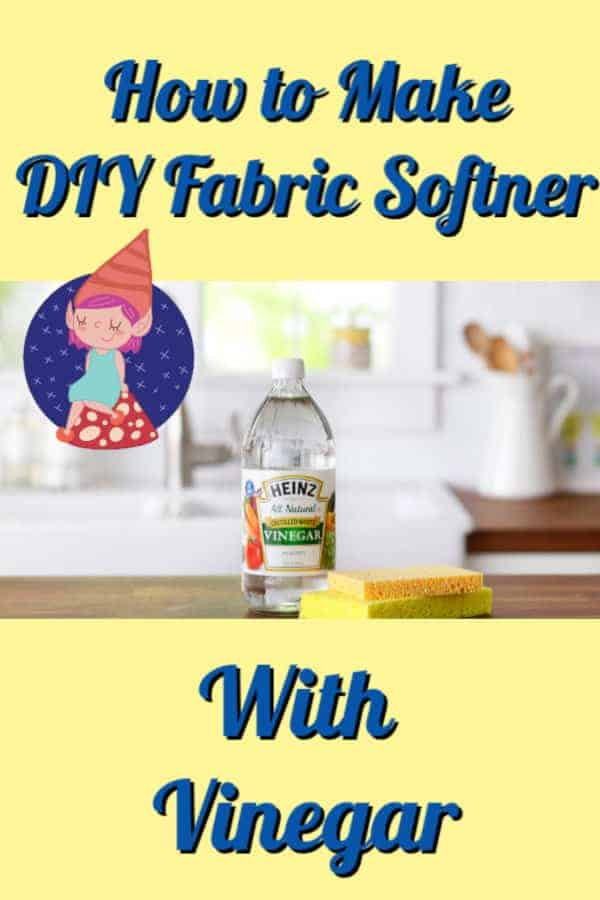 how to make diy fabric softener with vinegar